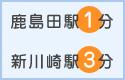 鹿島田駅徒歩1分 新川崎駅徒歩3分